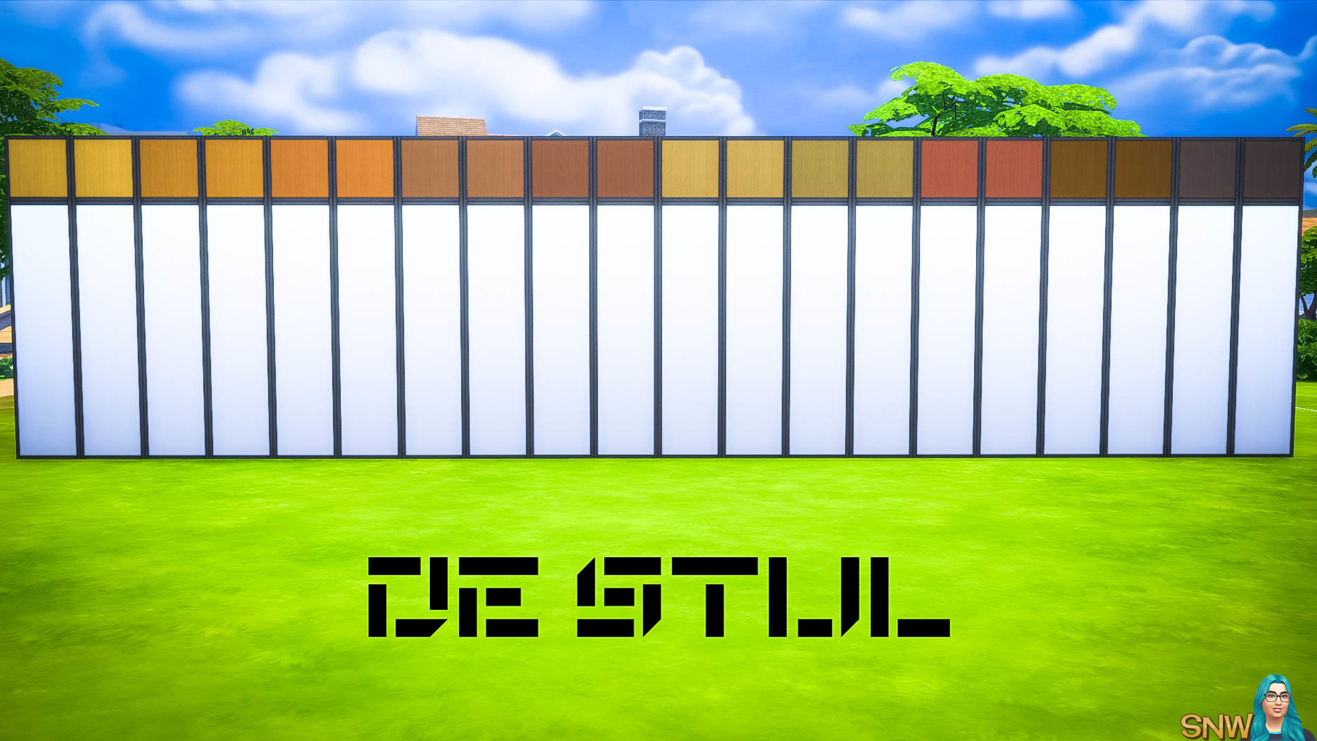 De Stijl Wooden Wall Panels (Top) #2