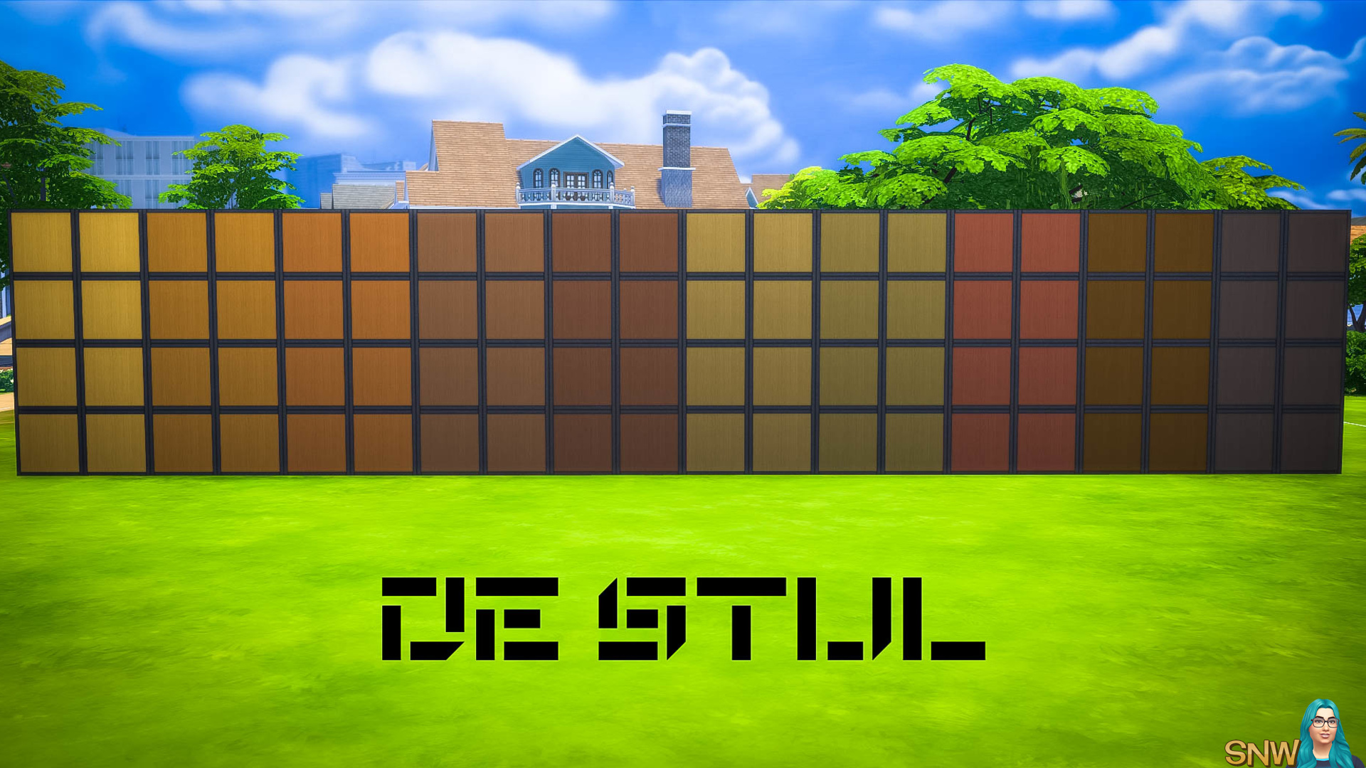 De Stijl Wooden Wall Panels Blocks (Full) #7