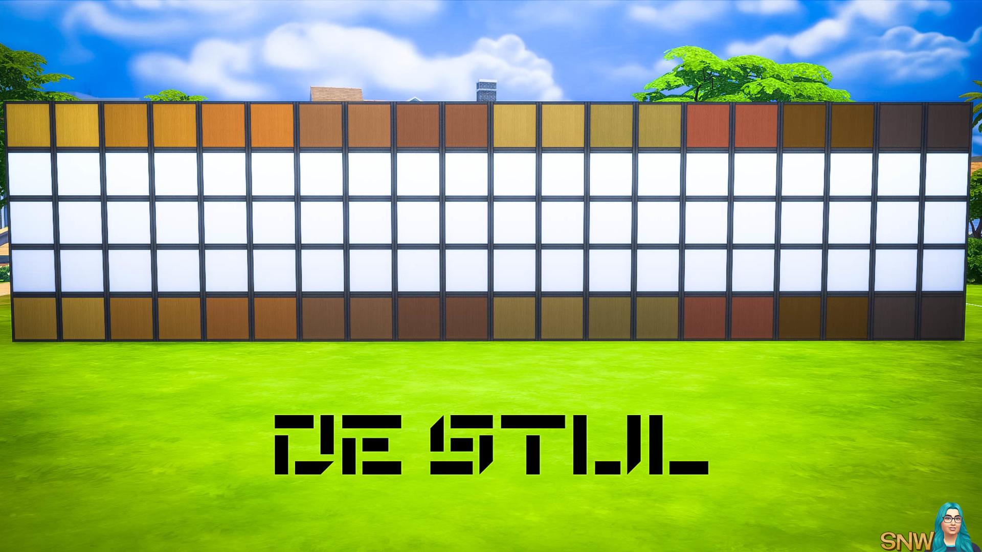 De Stijl Wooden Wall Panels Blocks (Top and Bottom) #10