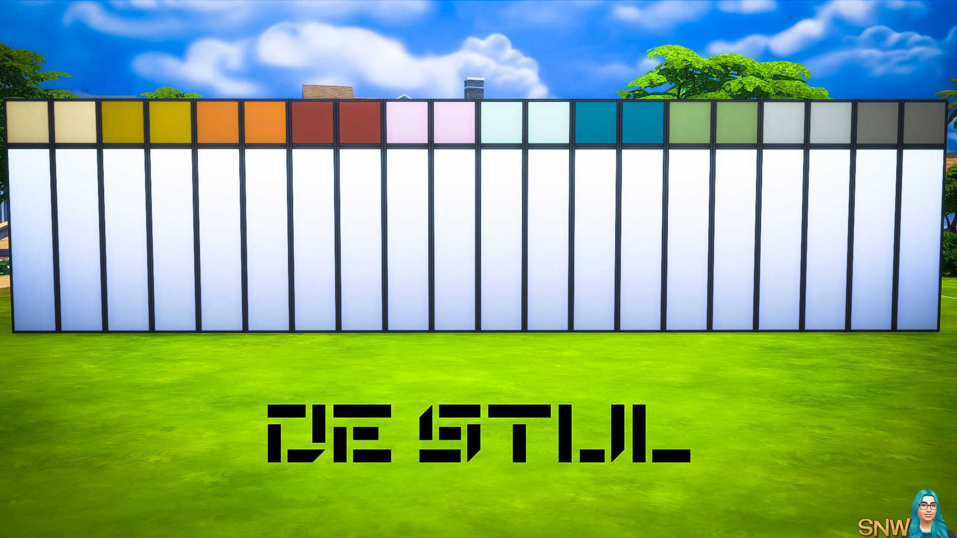 De Stijl MCM Wall Panels (Top) #2