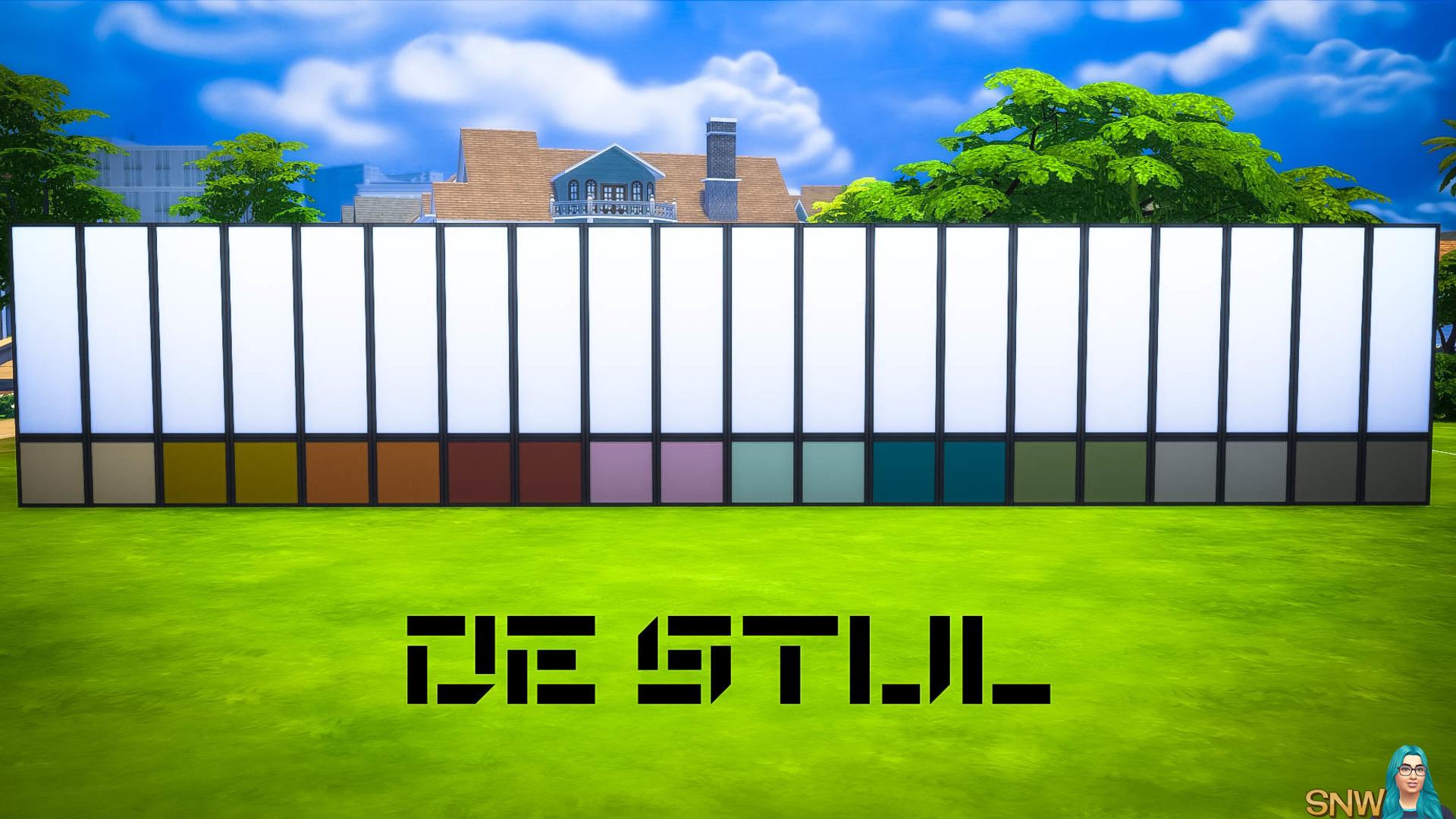 De Stijl MCM Wall Panels (Bottom) #3