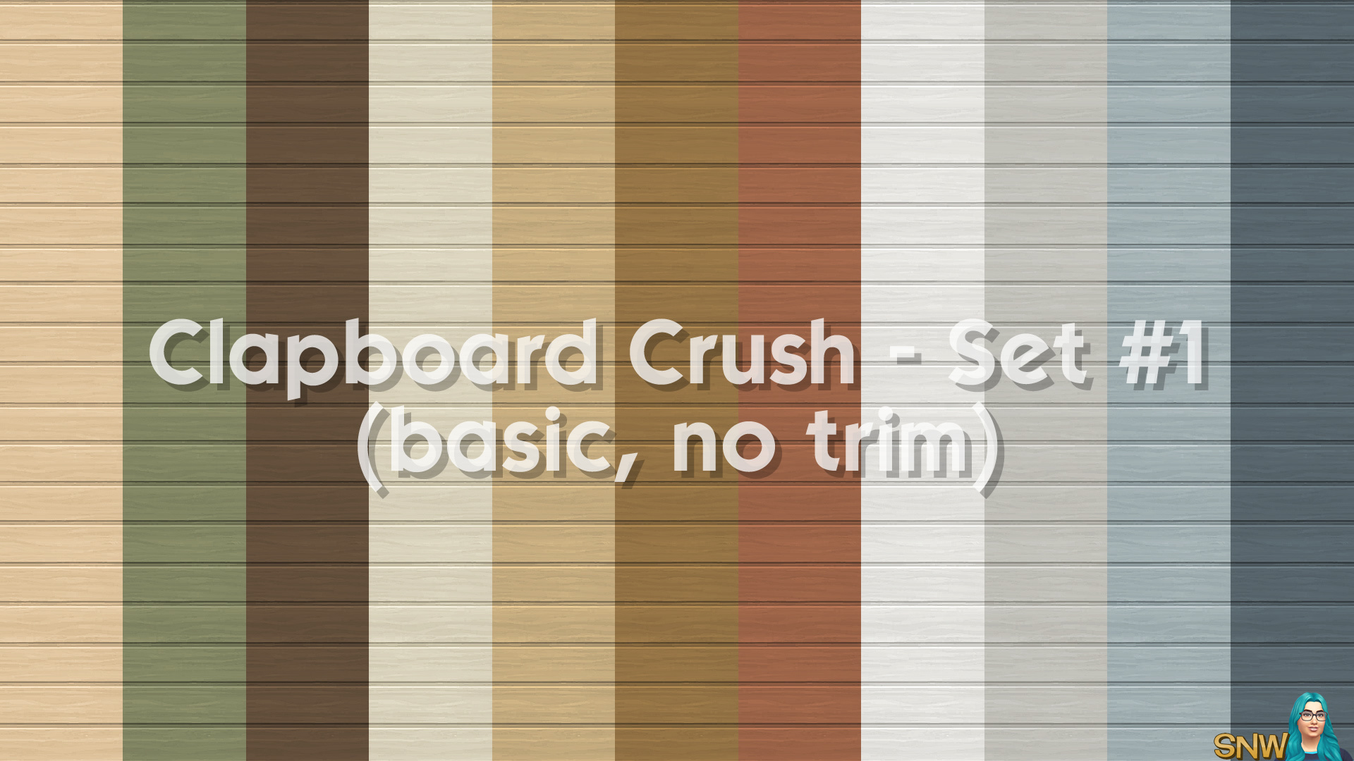 Clapboard Crush Siding Walls Set #1 Basic