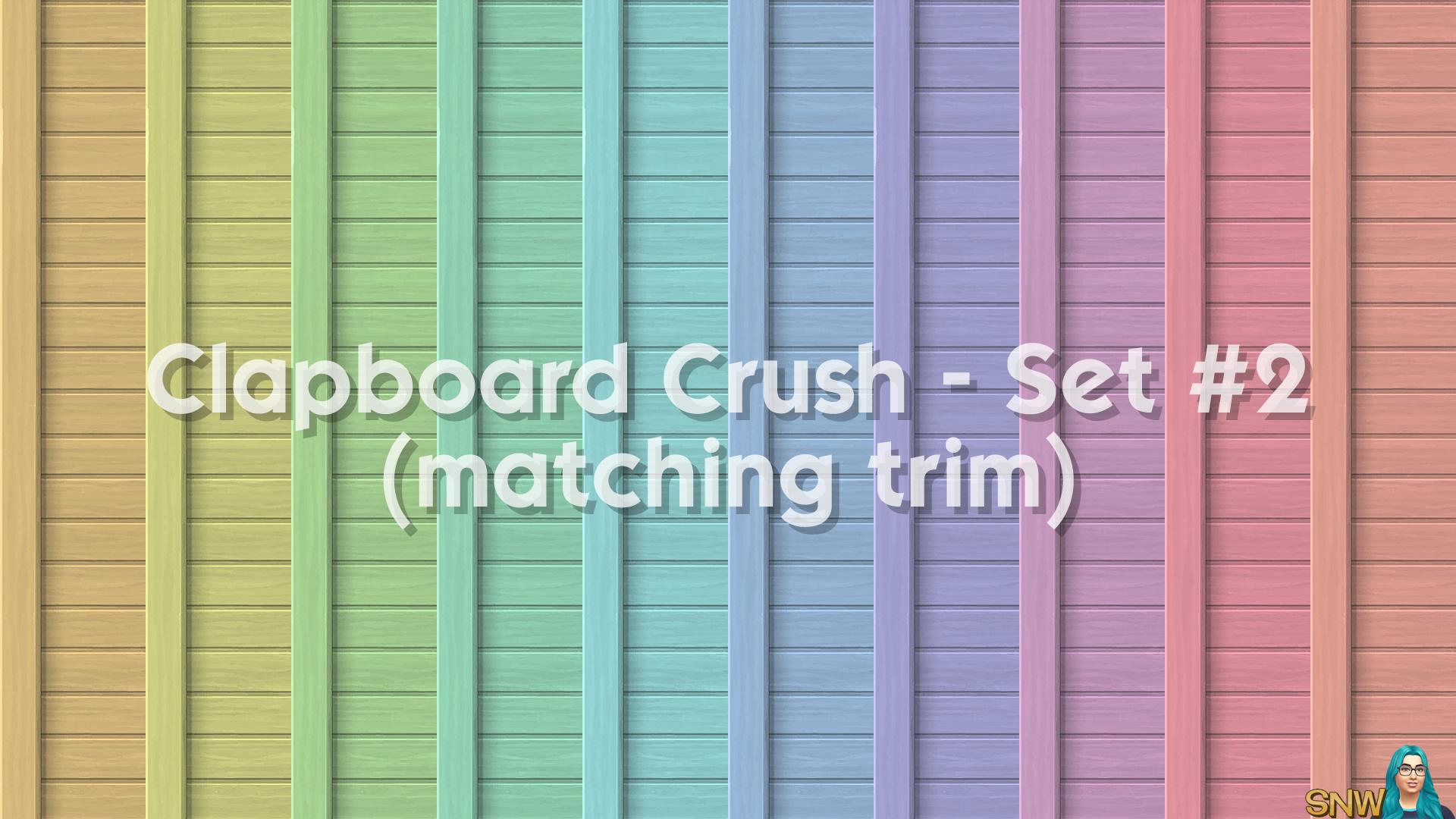 Clapboard Crush Siding Walls Set #2 (with Corner Trim)