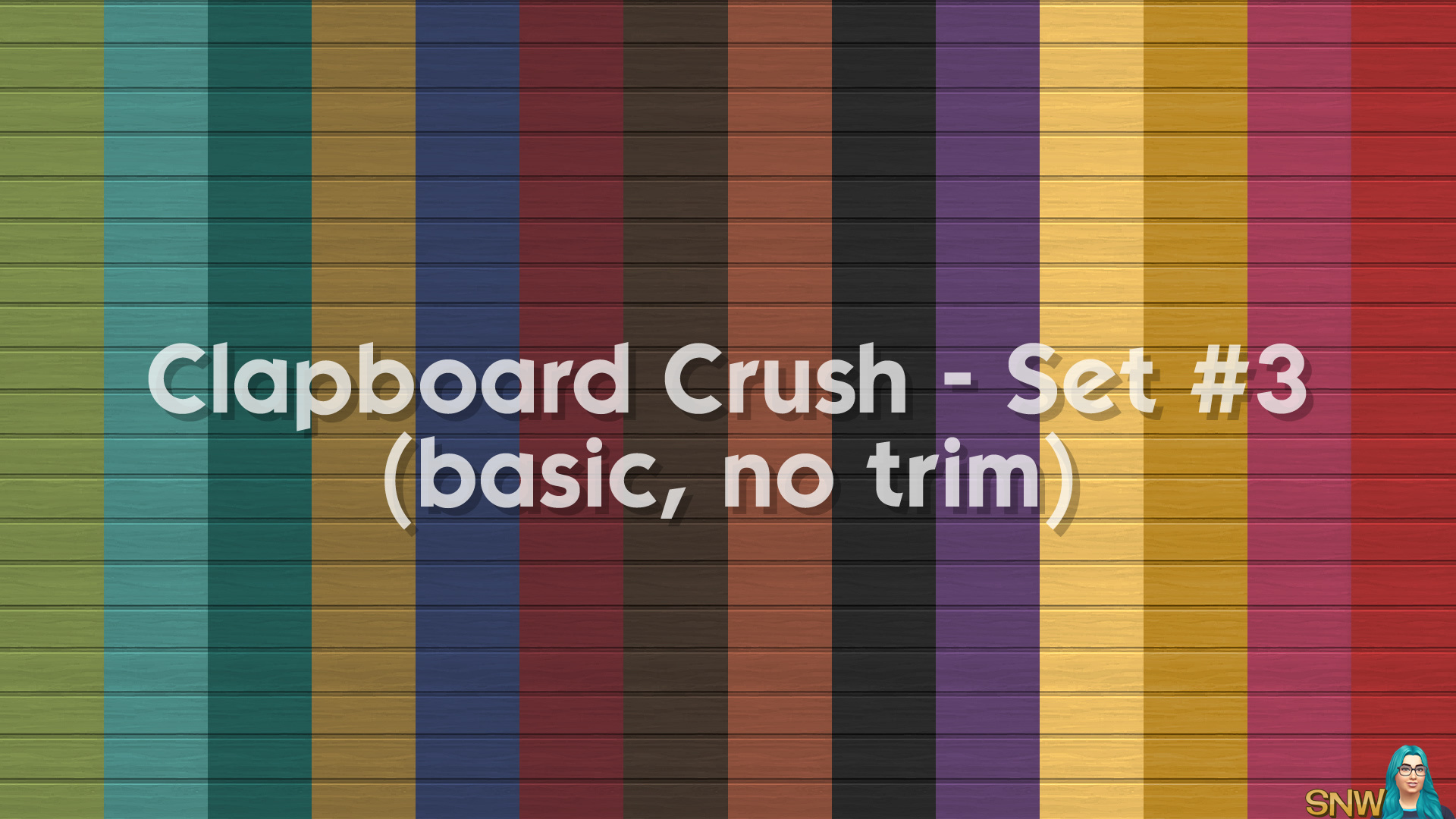 Clapboard Crush Siding Walls Set #3 Basic