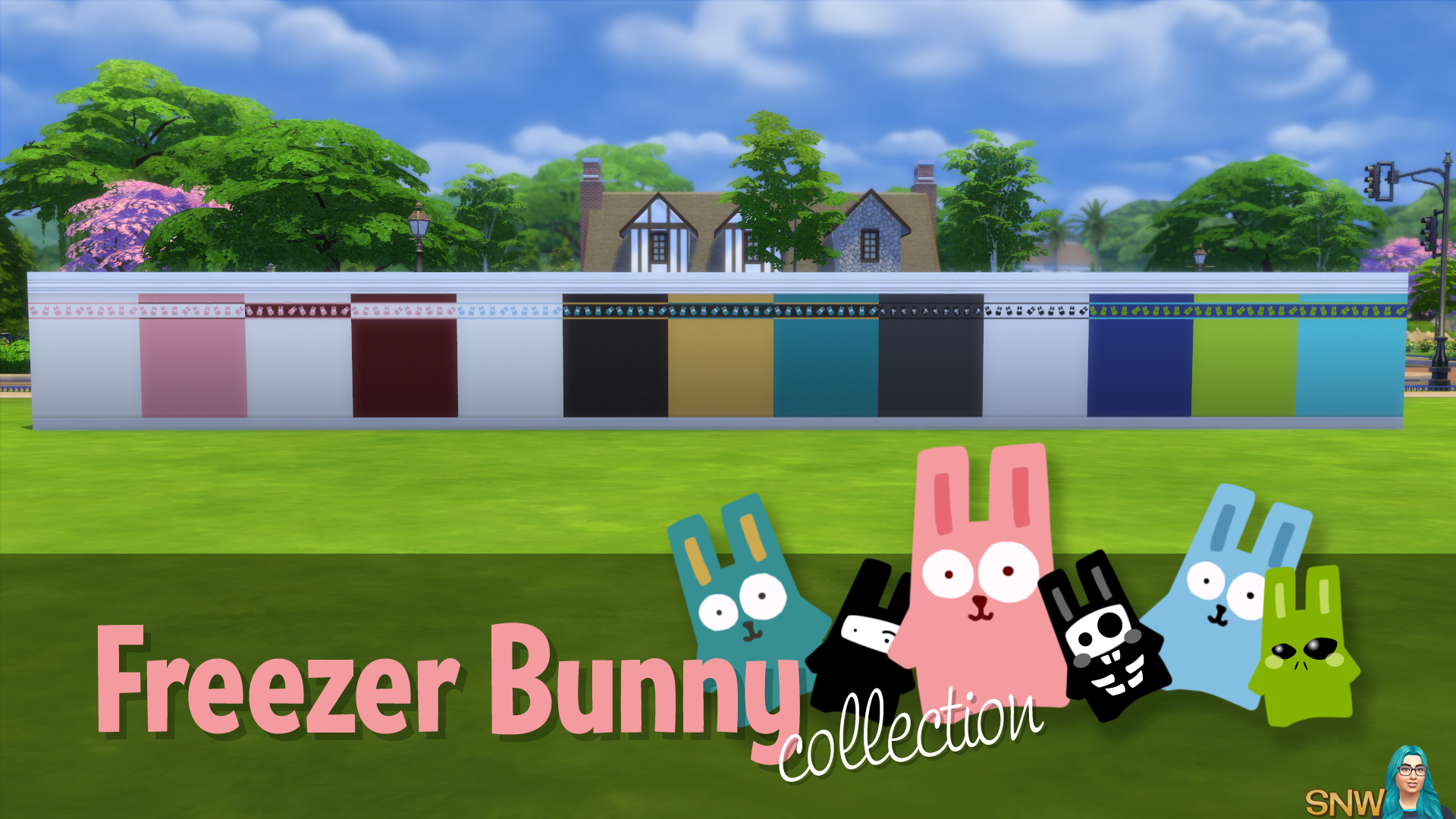 Freezer Bunny Collection: Top Border Wallpapers