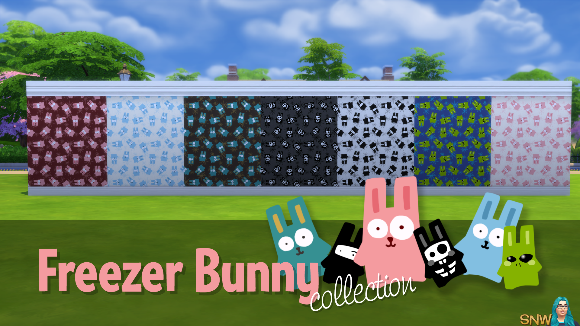 Freezer Bunny Collection: Big Bunnies/Starburst Wallpapers