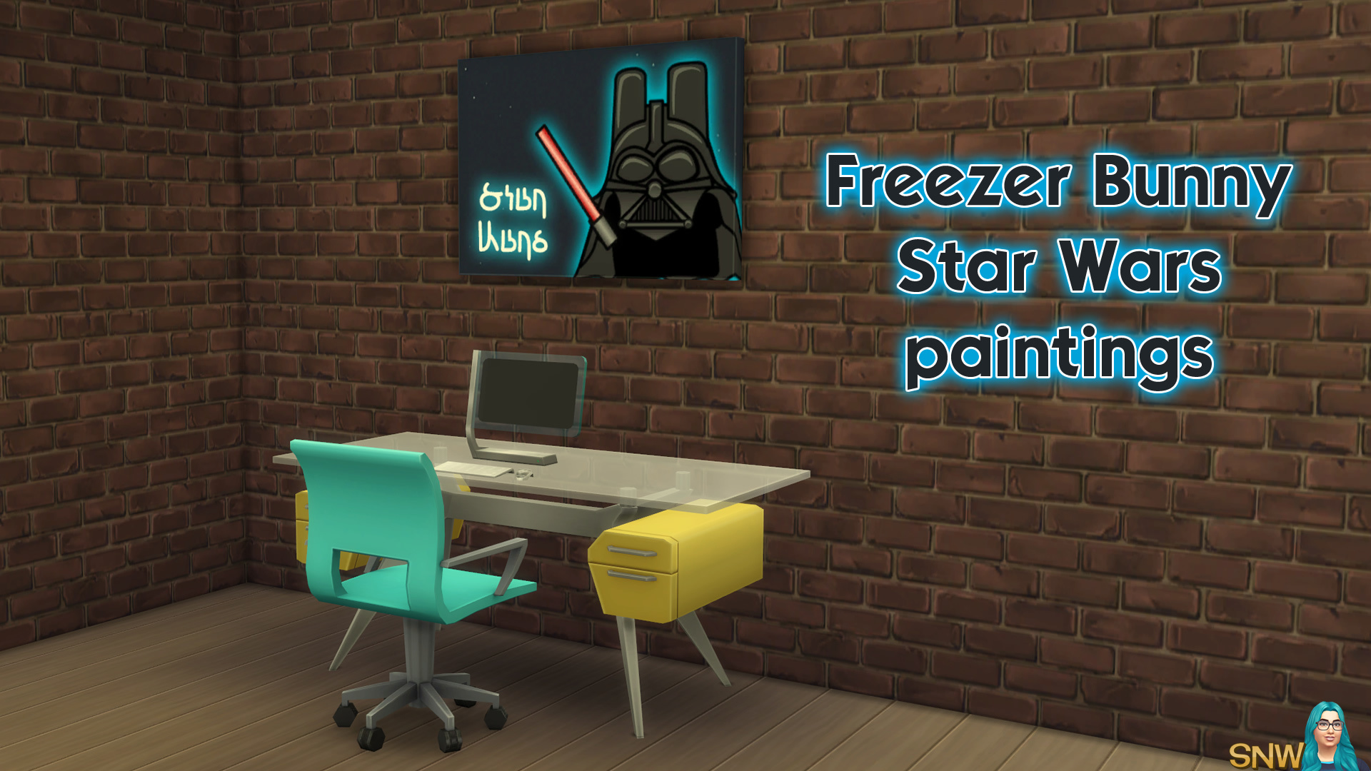 Freezer Bunny Star Wars paintings