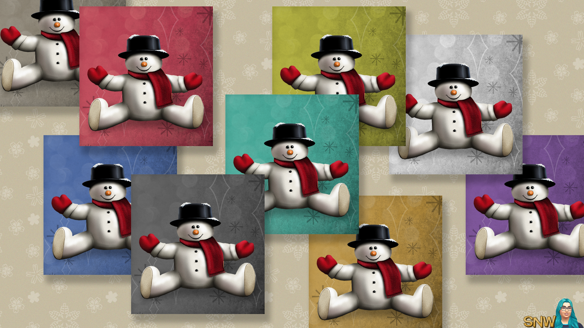Large Snowman Painting #2