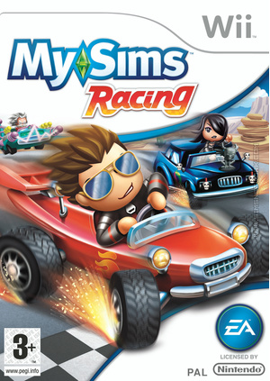 MySims Racing Wii box art packshot