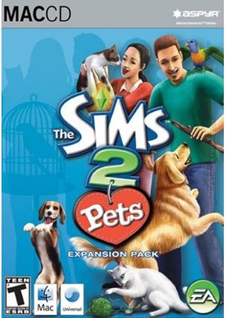 The Sims 2: Pets for Mac box art packshot