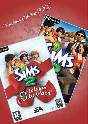 The Sims 2: Christmas Edition (2005) custom made box art for SNW