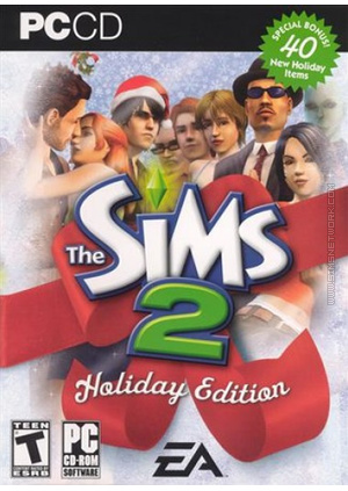 The Sims 2: Holiday Edition (2005) box art packshot US