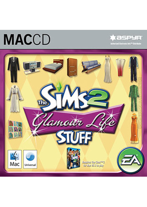 The Sims 2: Glamour Life Stuff for Mac box art packshot jewel case