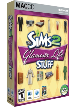 The Sims 2: Glamour Life Stuff for Mac box art packshot