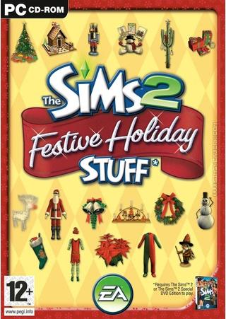 The Sims 2: Festive Holiday Stuff box art packshot