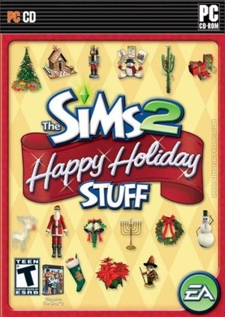 The Sims 2: Happy Holiday Stuff box art packshot US