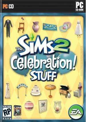The Sims 2: Celebration! Stuff box art packshot US