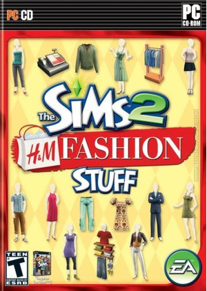 The Sims 2: H&M Fashion Stuff box art packshot US