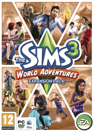 The Sims 3: World Adventures box art packshot