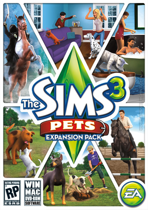 The Sims 3: Pets box art packshot