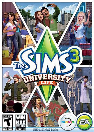 The Sims 3: University Life box art packshot