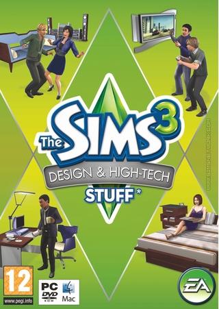 The Sims 3: Design & High-Tech Stuff box art packshot