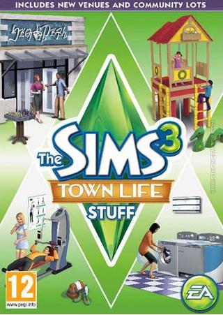 The Sims 3: Town Life Stuff box art packshot