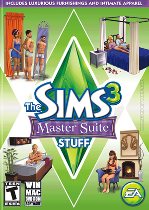 The Sims 3: Master Suite Stuff box art packshot US