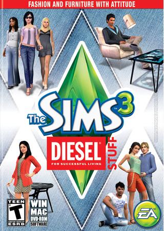 The Sims 3: Diesel Stuff box art packshot US