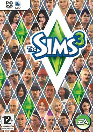 The Sims 3 box art packshot