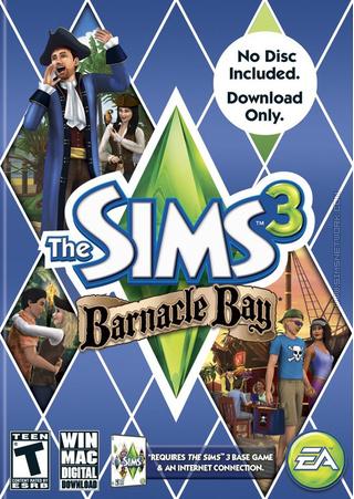 The Sims 3: Barnacle Bay box art packshot