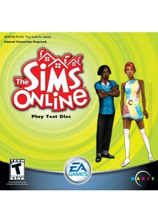 The Sims Online (Play Test Disc) box art packshot