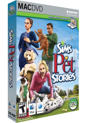 The Sims: Pet Stories for Mac box art packshot