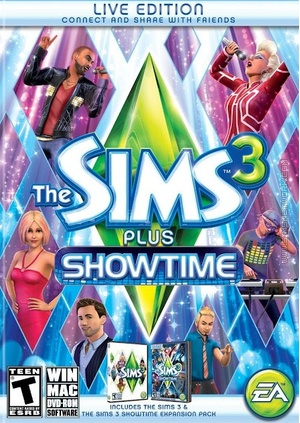 The Sims 3 Plus Showtime packshot box art