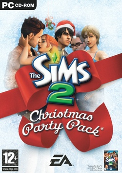 The Sims 2: Christmas Party Pack box art packshot