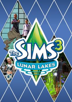 The Sims 3: Lunar Lakes custom box art packshot made by SNW