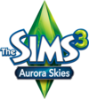 The Sims 3: Aurora Skies logo