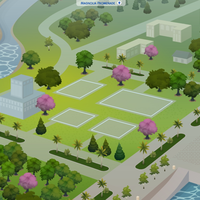The Sims 4: Magnolia Promenade world (empty)