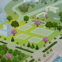 The Sims 4: Magnolia Promenade world (empty)