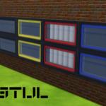 De Stijl Windows for The Sims 4