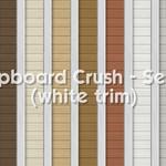 Clapboard Crush Siding Walls Set 3 With Corner Trim