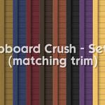 Clapboard Crush Siding Walls Set 3 With White Corner