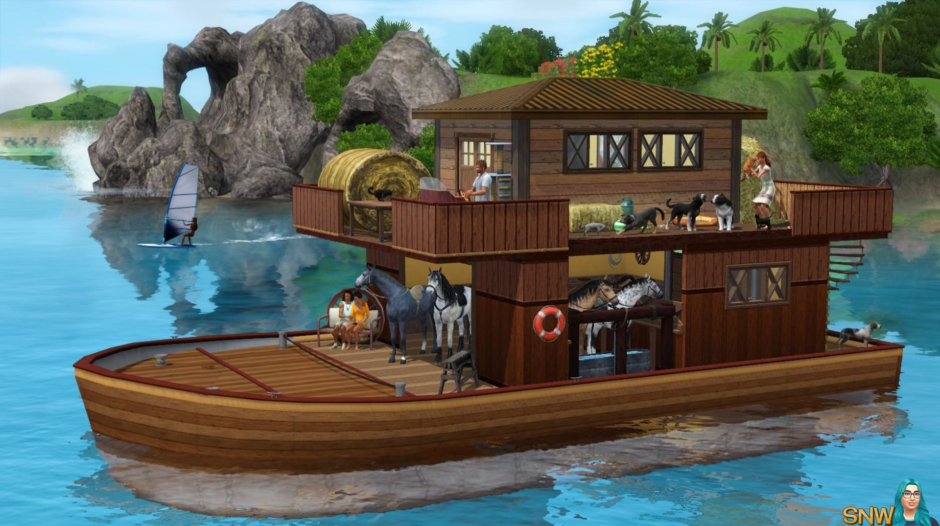 Pets on a house boat! | SNW | SimsNetwork.com