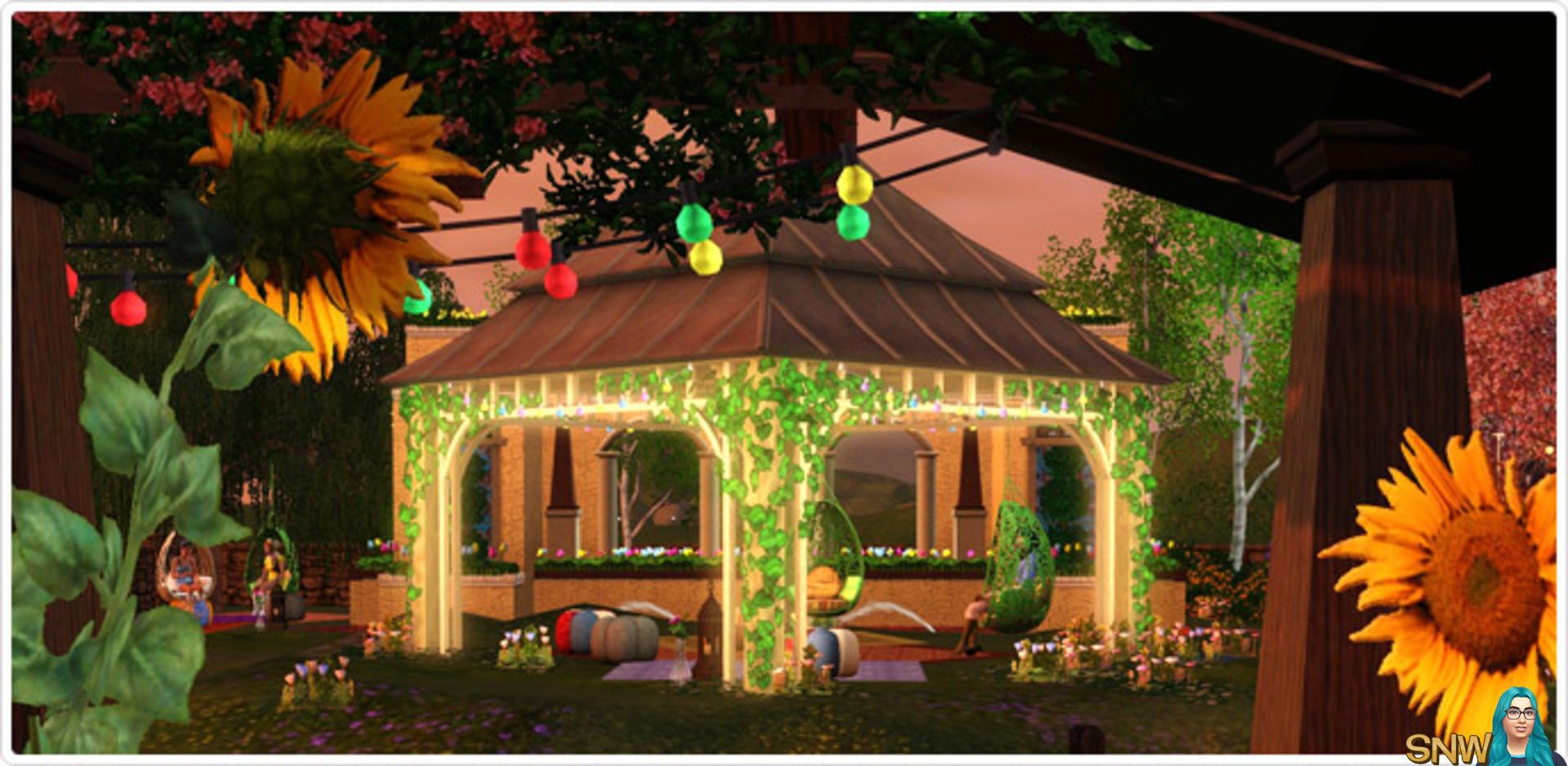 Bohemian Garden store set!  SNW  SimsNetwork.com