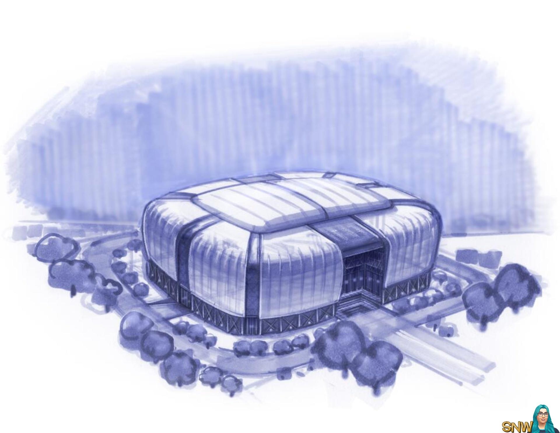 Sunset Valley stadium concept arts   SNW   SimsNetwork com
