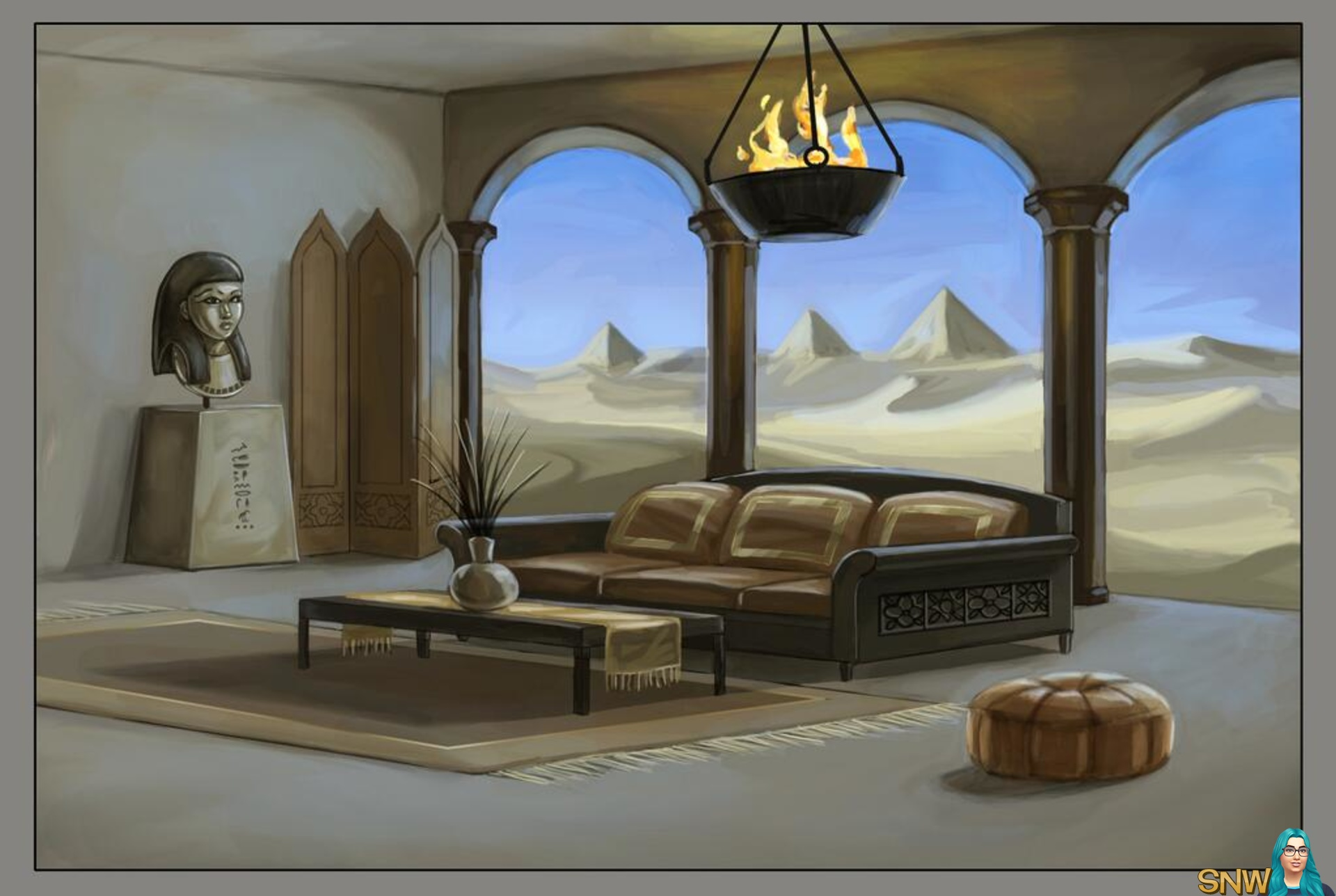 I Have Some World Adventures Concept Art To Share Featuring An Egyptian  Themed Living Room!