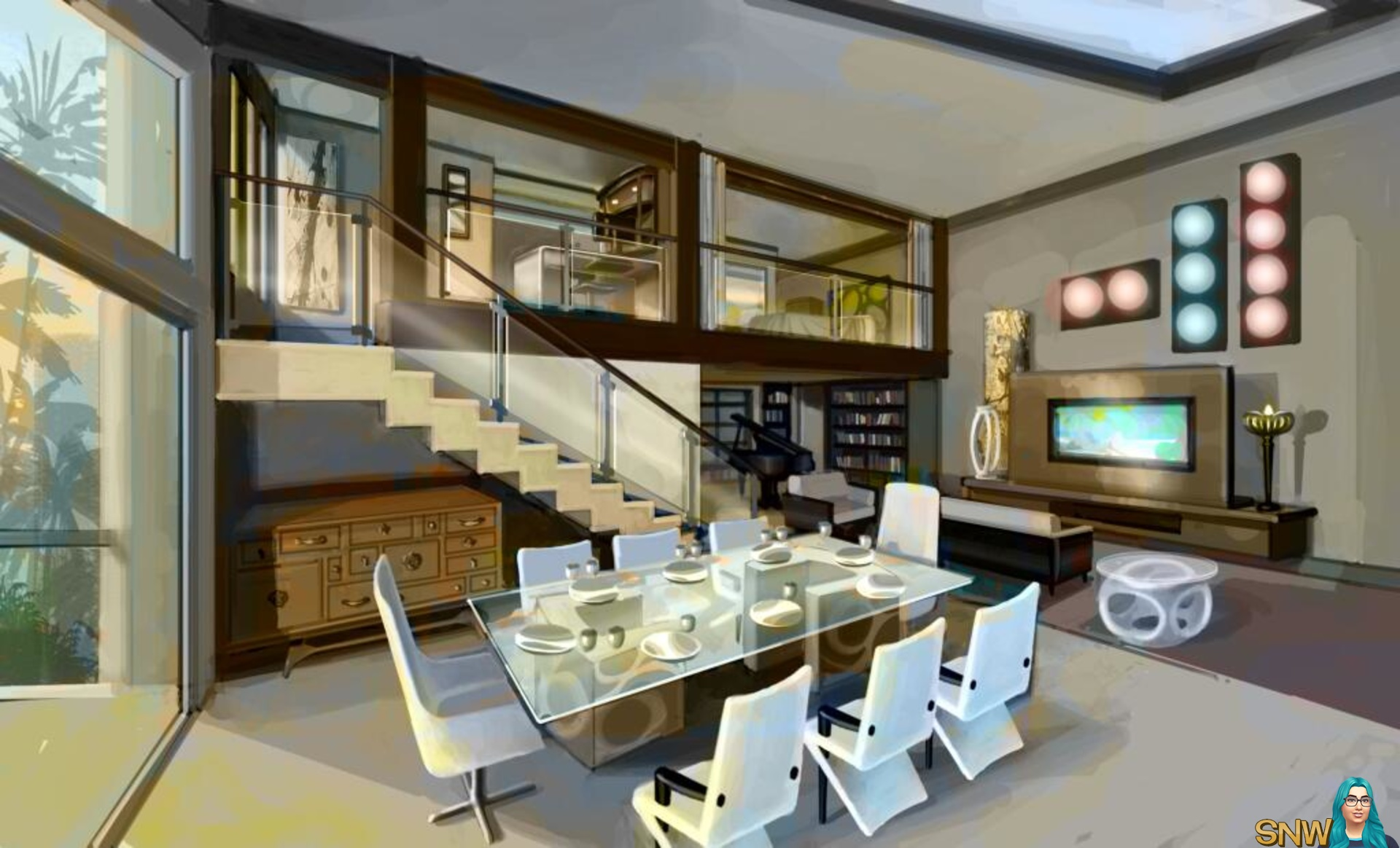 The sims 3 late night news snw for Sim interior designs