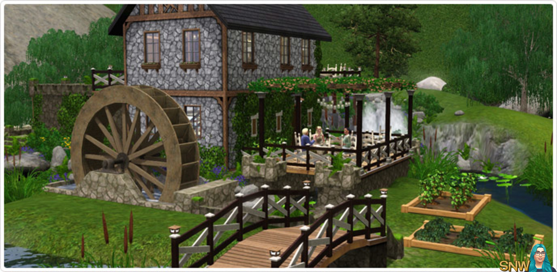 AznSensei's Sims 3 Store Blog: Brunch at the Old Mill