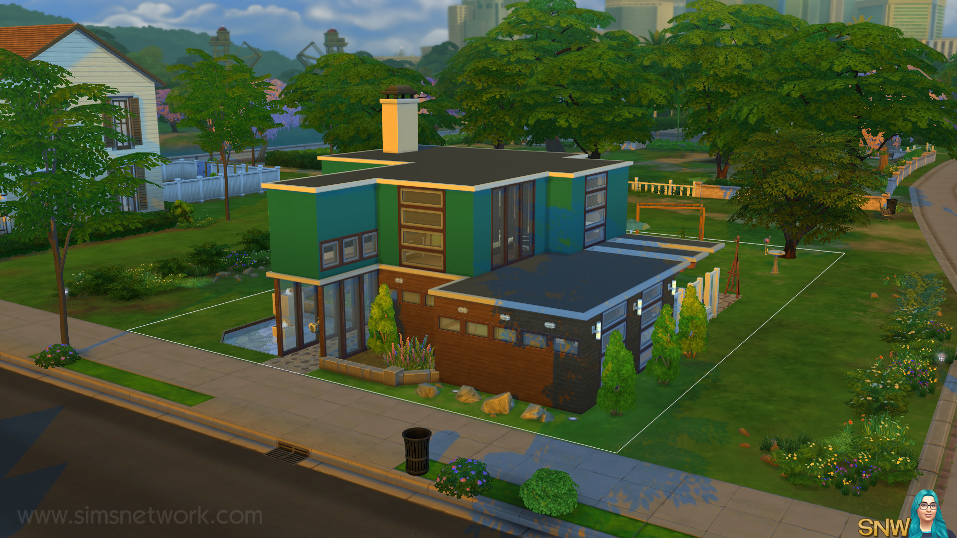 Mid-Century Modern House in The Sims 4 | SNW | SimsNetwork com