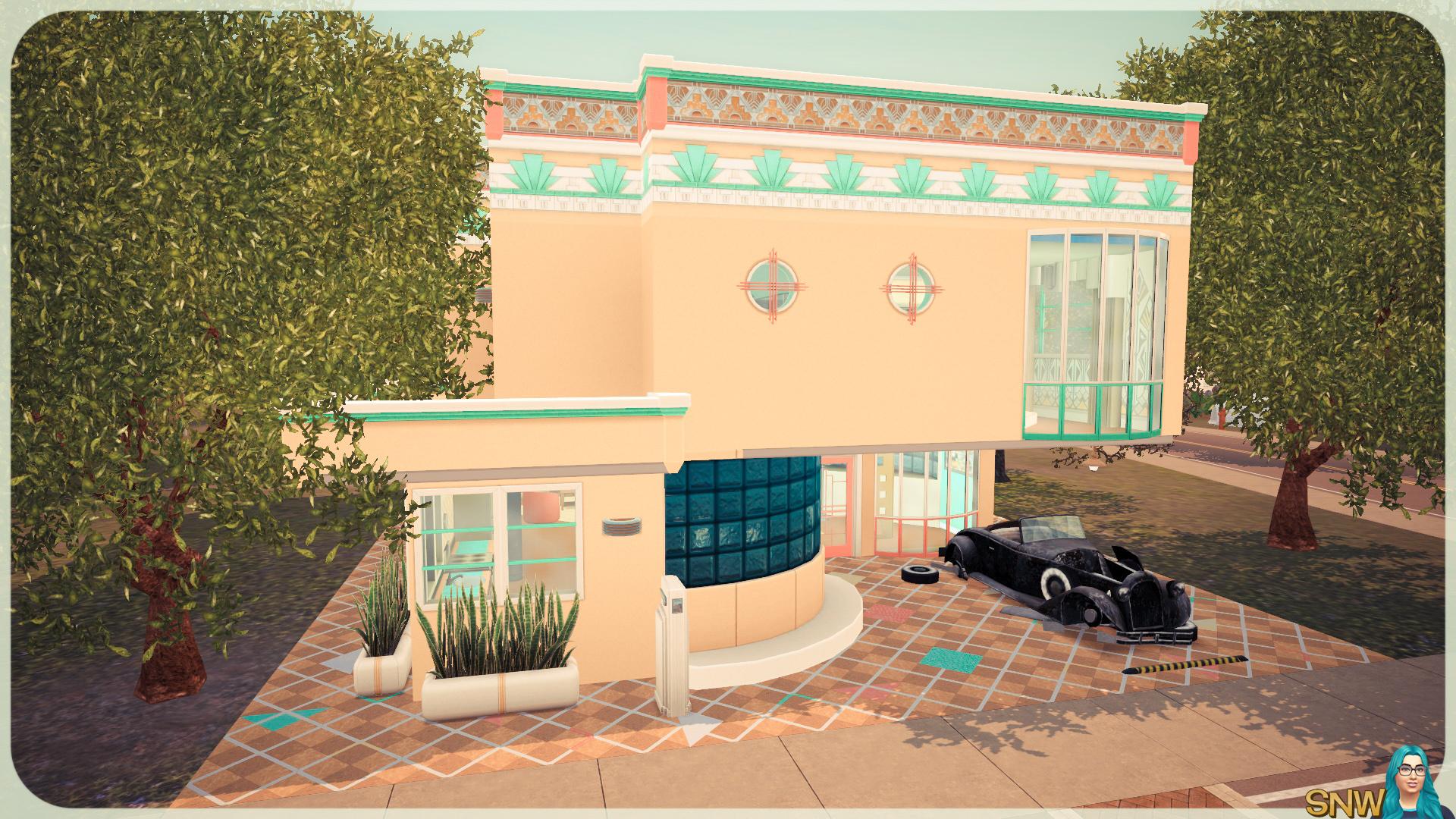 Sunny Art Deco House Snw Simsnetwork Com